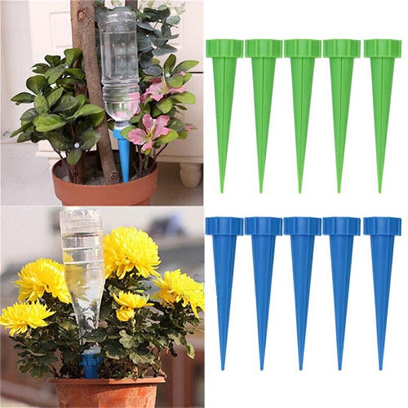 4Pcs/lot 13.5*3cm Automatic Garden Cone Watering Spike Plant Flower Waterers Bottle Irrigation System Random Color Wholesale