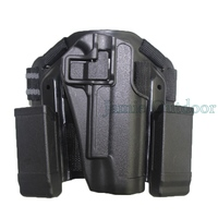 CQC Black Airsoft Puttee Drop Leg 1911 Holster RH Holster Drop Leg Holster for Gun Colt 1911