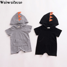 Waiwaibear Baby Boys Rompers Summer Infant Toddler Short Sleeve Hooded Jumpsuits Outfits Clothes Clothing TN11