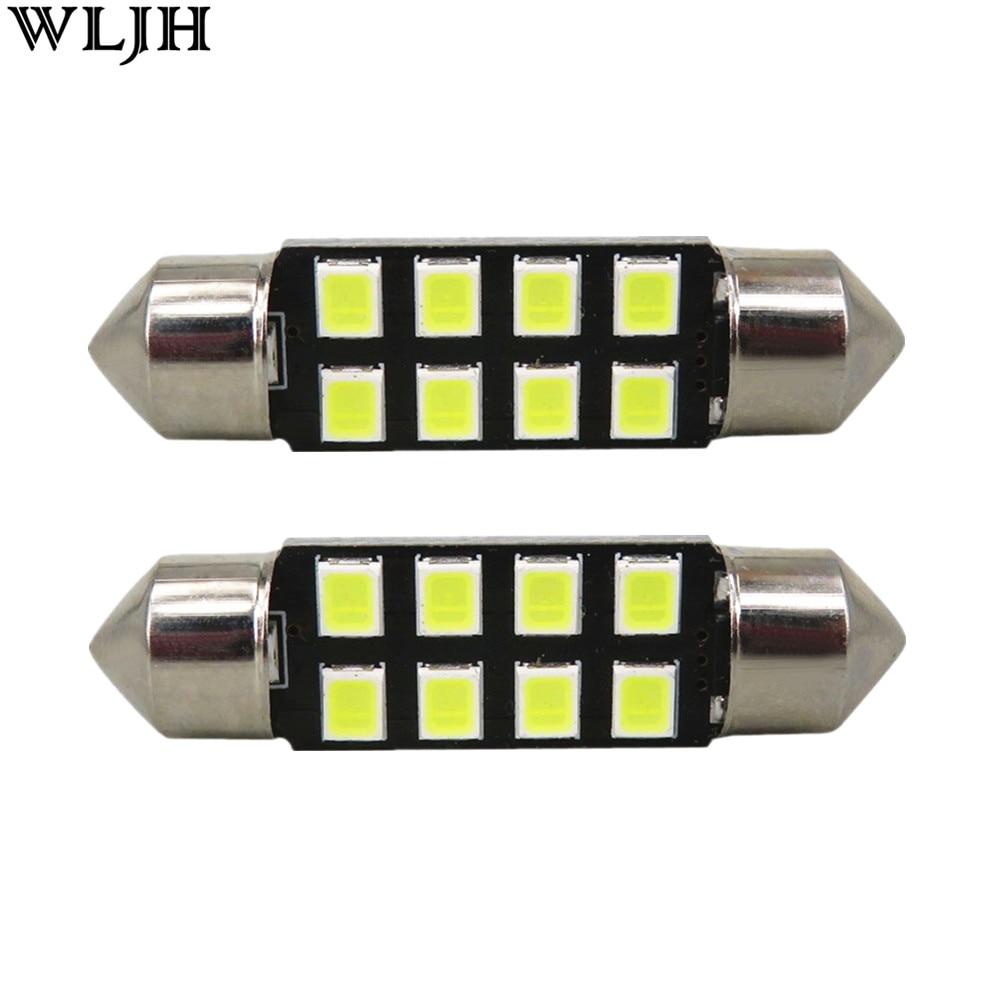 WLJH 6pcs C5W 36 մմ LED Festoon գմբեթավոր մեքենայի - Ավտոմեքենայի լույսեր - Լուսանկար 1
