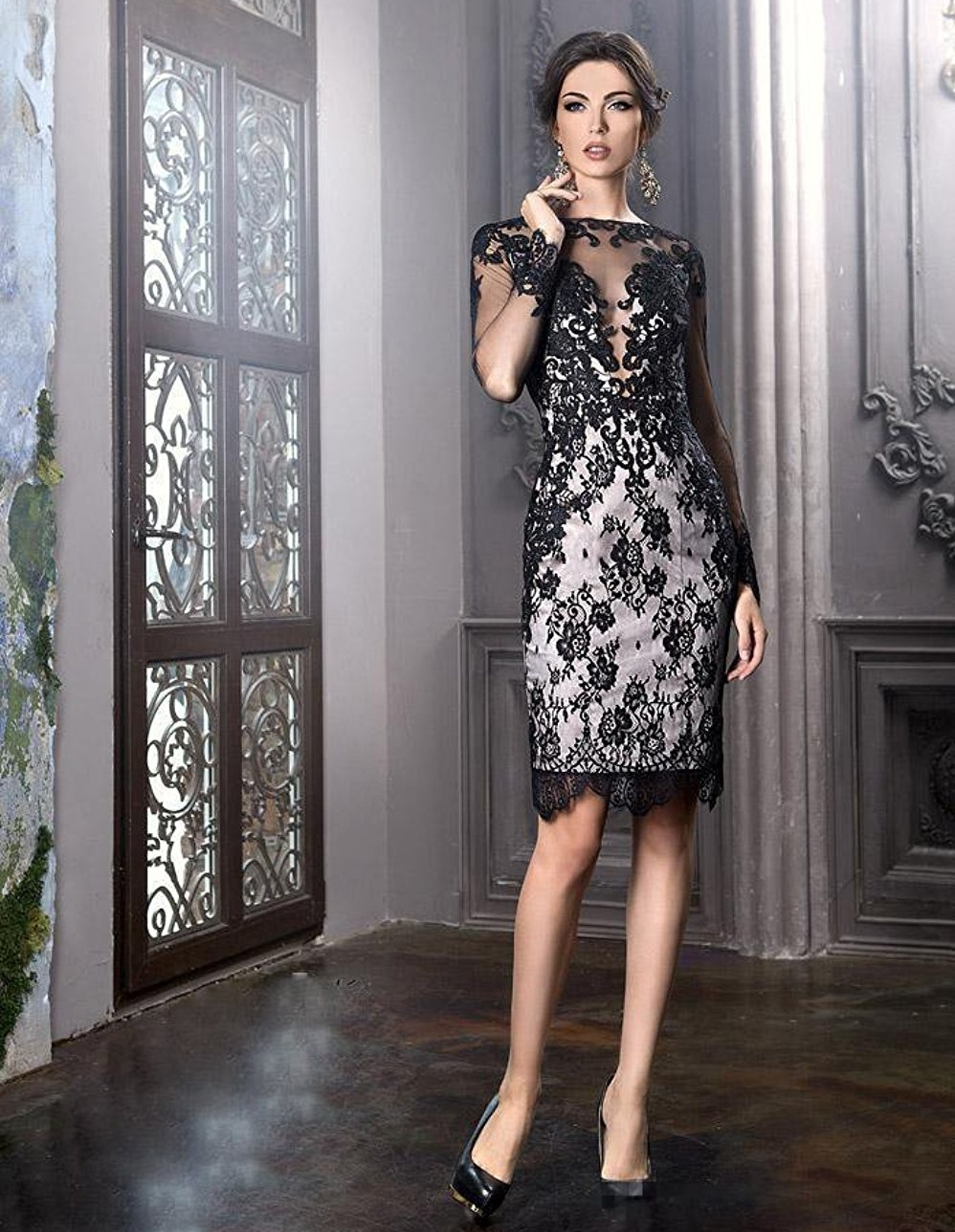 Elegant Black Lace Mother of the Bride Dresses 2017 New ...