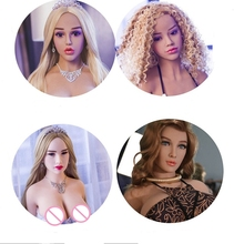 TPE Sex love doll head adult mouth oral silicone sex doll head for men real love doll head can add tongue