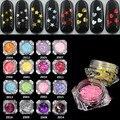 1Can Estrella/Forma de Corazón Del Arte Del Clavo de Acrílico 3D Glitter Lentejuelas 16 Estilo Flores/Labios Diseño Rebanada de Uñas Accesorios para el Arte Del Clavo
