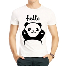 Cute Panda Print T shirt Fashion Short Sleeve Men White Color Cartoon Dabbing Panda T-shirt Top Tees tshirt Lovely Panda T-shirt худи print bar panda pilot