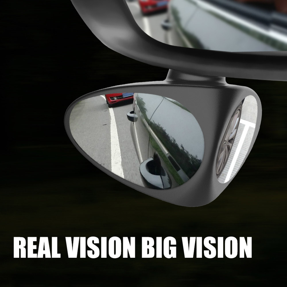 HTB1kj43XyLrK1Rjy1zdq6ynnpXaF 1 Piece 360 Degree Rotatable 2 Side Car Blind Spot Convex Mirror Automibile Exterior Rear View Parking Mirror Safety Accessories