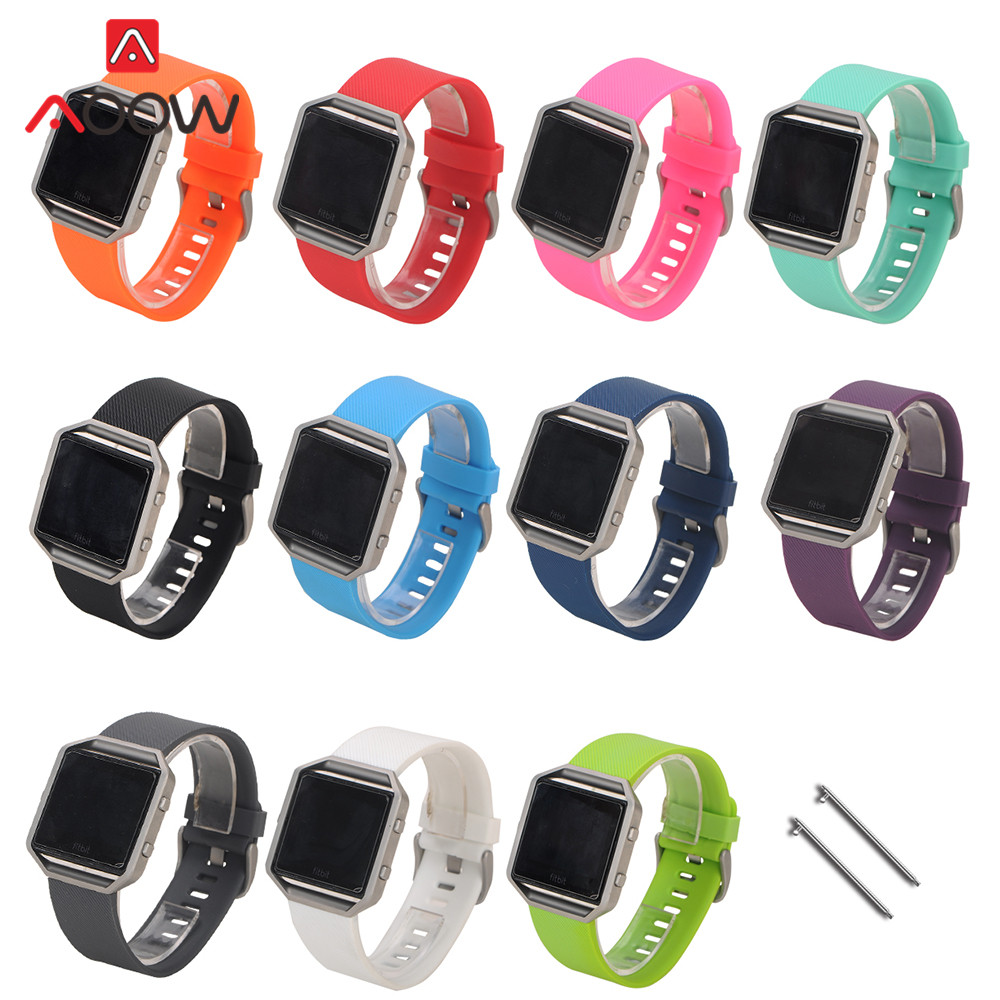 S/L Silicone Watchband For Fitbit Blaze Quick Release Soft Rubber Diving Sport Replacement Bracelet Strap Band For Smart Watch