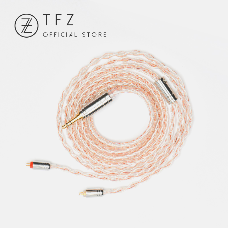 TFZ Earphone Upgrade Wire TC 3.5/4.4mm Interface 2 Pin 0.78mm Pin Universal Single Crystal Copper Silver Foil Hifi Music Cable