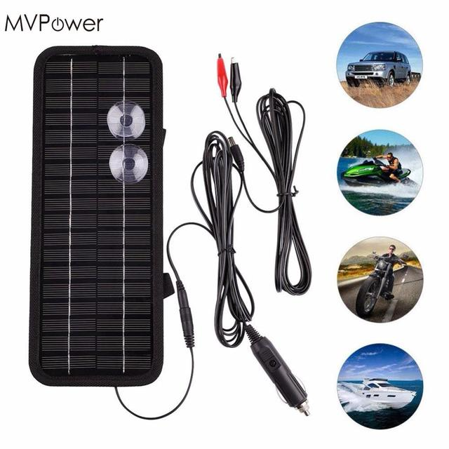 2018 Solar Battery Panel 12V 5W Multi Purpose Solar Panel Battery Charger Power Bank for Car Boat Motorcycle Phone Tractor