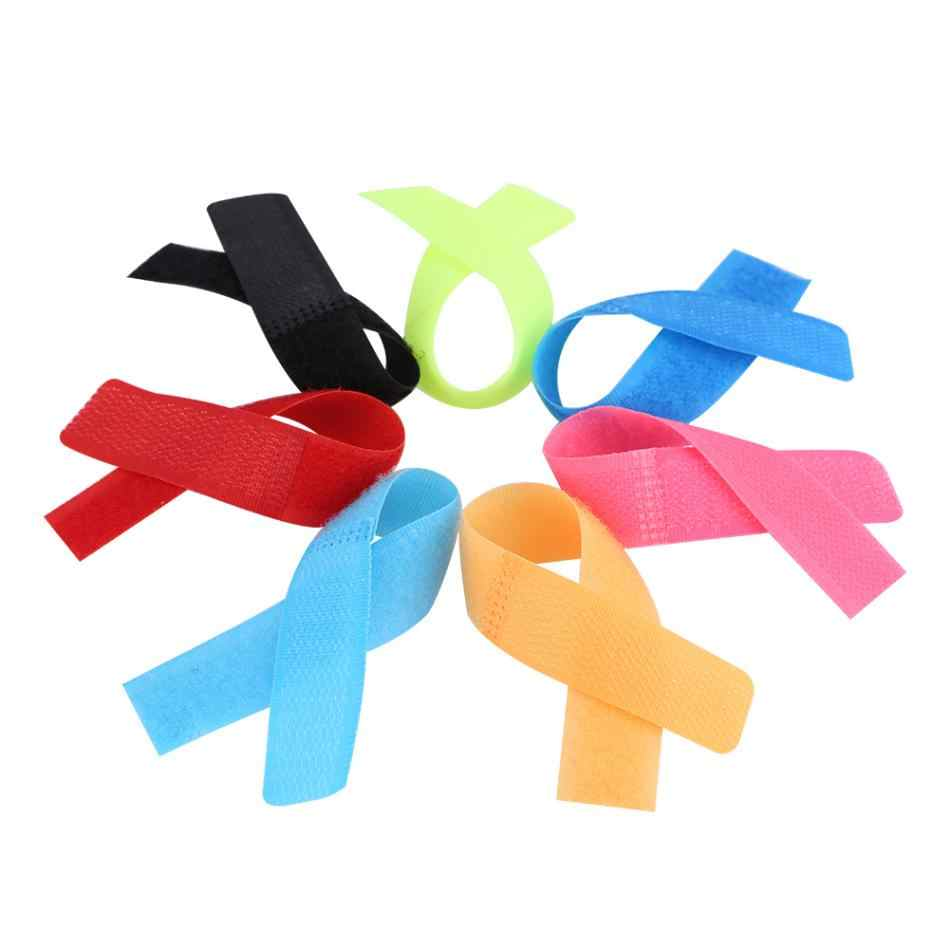 470781d578fe 50 piece/Packs Reusable Magic Tape Ties Cord Lead Straps TV Computer Cable  Winder Wire