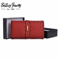 2017 Sally Young Women Wallet Long Purse Hasp Closure Wallet Pu Leather Feminina Women Fashion Solid