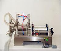 50-500 ML 2016 Venta caliente doble cabeza automática máquina de llenado neumático Horizontal máquina de llenado de pasta líquida neumática