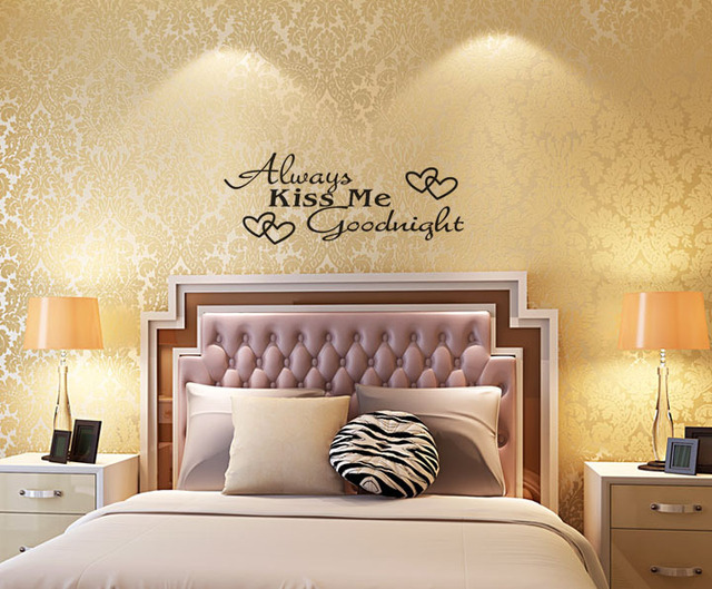 Dorable Always Kiss Me Goodnight Wall Art Picture Collection - Wall ...