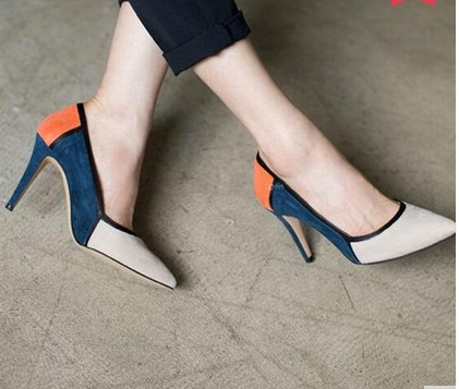 ФОТО Fine high with pointed toe single shoes small yards 30 31 32 33 plus size 40 41 42 43 44 women's shoes