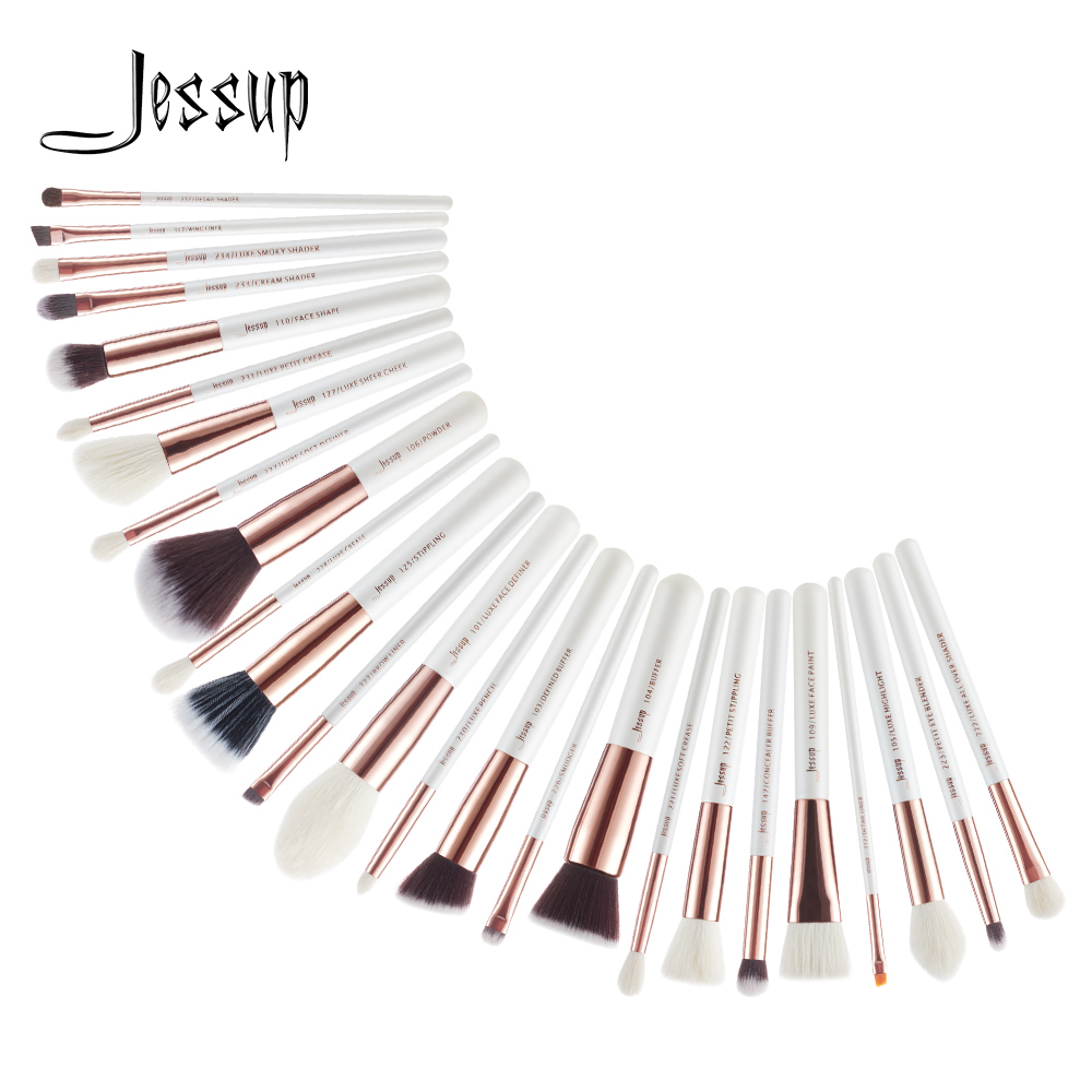 Jessup krása 25ks make-up kartáče sada Dropshipping pincel maquiagem Eyeshadow Foundation Defender ceruzky kartáče kosmetika T215