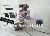 Semi Automatic Round Bottle Labeler Machine With Coder Date Printing Labeling Machine