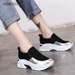 ARSMUNDI 2019 Демисезонный Для женщин кроссовки Вулканизированная обувь воздухопроницаемая комфортная обувь женская повседневная обувь Туфли