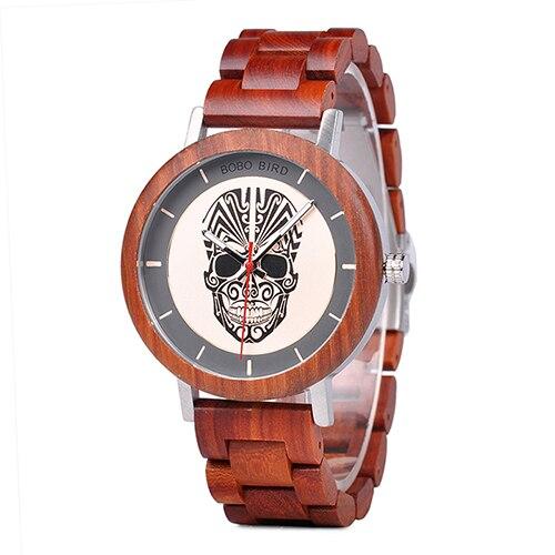 BOBO BIRD relogio masculino Mens Vintage Wooden Watches Luxury Quartz Wristwatches Timepieces Drop Shipping C-Q12 | Fotoflaco.net