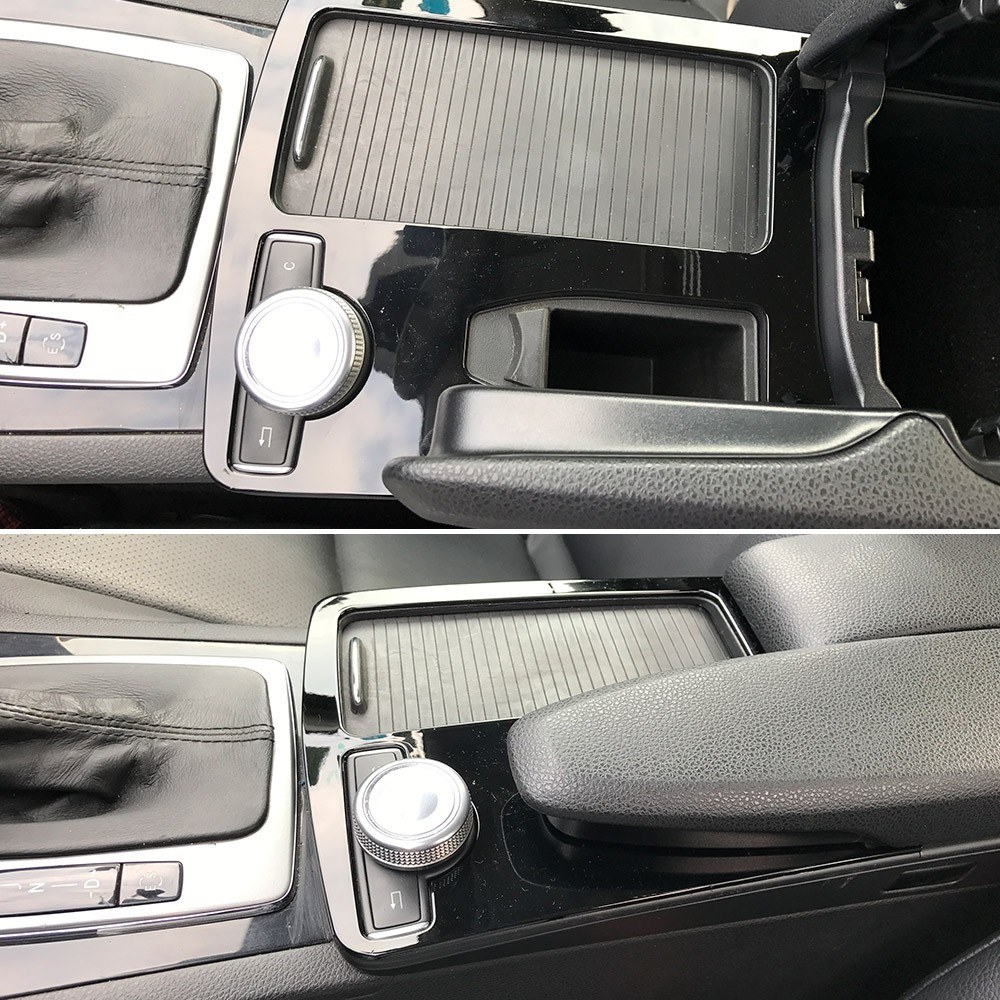 Console Armrest Stickers Trim Cover Car Styling For Mercedes-Benz C-class C180 C200 W204 2008-2014 LHD C180 C200 C260 C300