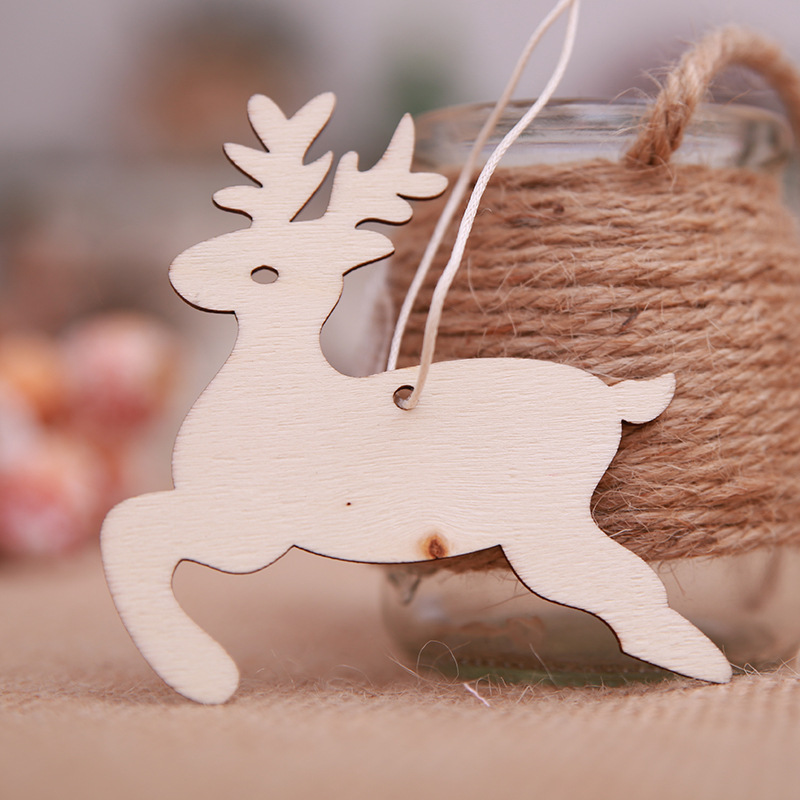 3 styles Wooden MDF Reindeer Christmas Craft Shape,Blanks,Tags Xmas Decoration