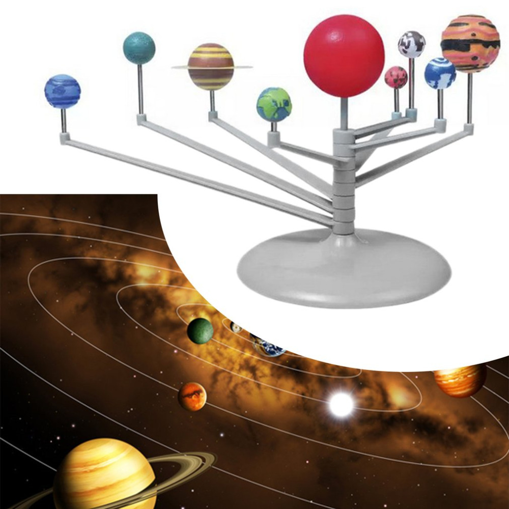 3D Simulation Model Solar System Nine Planets Scale Plastic Educational Toy New