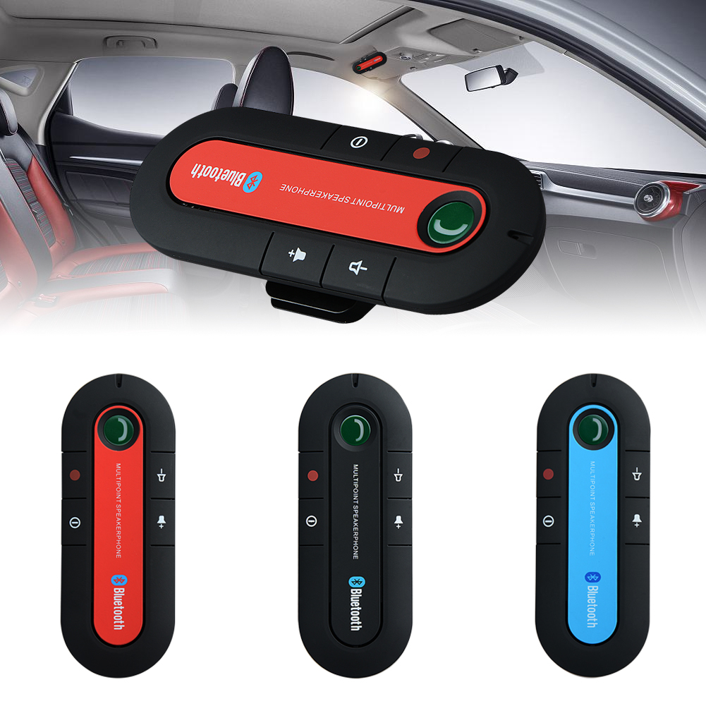 Bluetooth Car V3.0 Wireless Speaker Phone Slim Magnetic Hand Free In Car Kit Visor Clip High Quality Bluetooth Car Kit