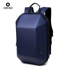 OZUKO Men Hard Shell Backpack Anti Theft Travel Creative Alien Casual Male Laptop Waterproof Back Pack Teenage School Bags Boy