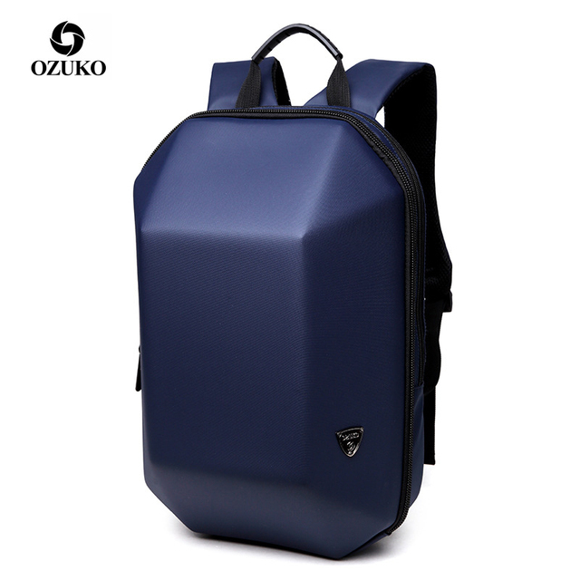OZUKO الرجال حقيبة ظهر ذات معدن صلب مكافحة سرقة السفر الإبداعية الغريبة عادية ذكر محمول مقاوم للماء الظهر حزمة في سن المراهقة الحقائب المدرسية الصبي