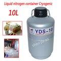 Высокое качество 10L контейнер с жидким азотом криогенный резервуар дюар контейнер с жидким азотом с резервуар с жидким азотом YDS-10