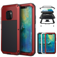 For Huawei P30 Mate 20 Preminum Aluminum Metal Silicone Hybrid Cover Shockproof Waterproof Armor Case For P30 Pro Mate 20 Pro