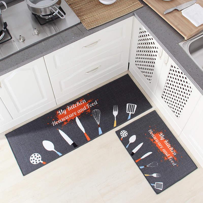 Longo Cozinha Esteira de Banho Tapete Tapete de Entrada de Casa Capacho Tapete Absorvente Quarto Tapetes Sala Tapete Da Cozinha Moderna