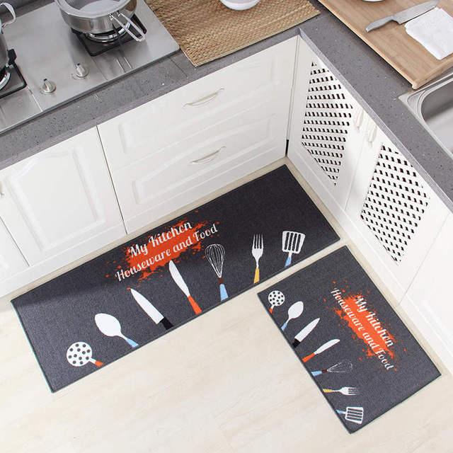 ארוך מטבח מחצלת אמבטיה שטיח רצפת מחצלת בית שפשפת כניסת Tapete סופג מחצלות רצפה בסלון חדר שינה מודרני מטבח שטיח