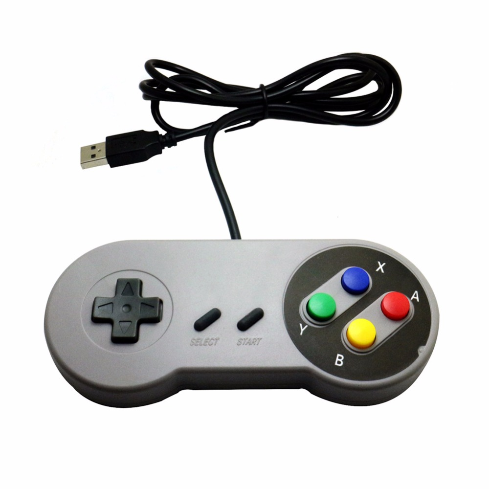 Wired USB Controller Gaming Joypad Game <font><b>Joystick</b></font> For Nintendo SNES Retro Handle Gamepad for PC Windows 98 2000 ME XP MAC <font><b>Laptop</b></font> image