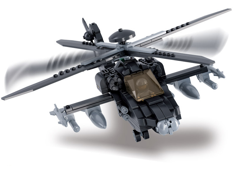 Models Building Toy 0511 Military Apache Ah 64 New Products Fighter
