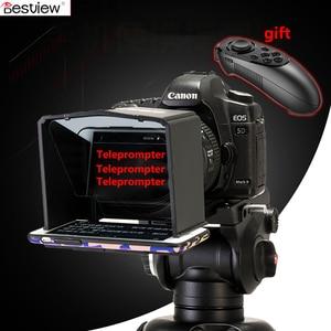 Image 1 - Bestview smartphone teleprompter para canon nikon sony camera photo studio dslr para youtube entrevista teleprompter câmera de vídeo