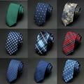 Brand necktie men ties designers fashion Dot Striped Plaid neck tie green wedding gravata slim 6cm Skinny tie For Men cravate