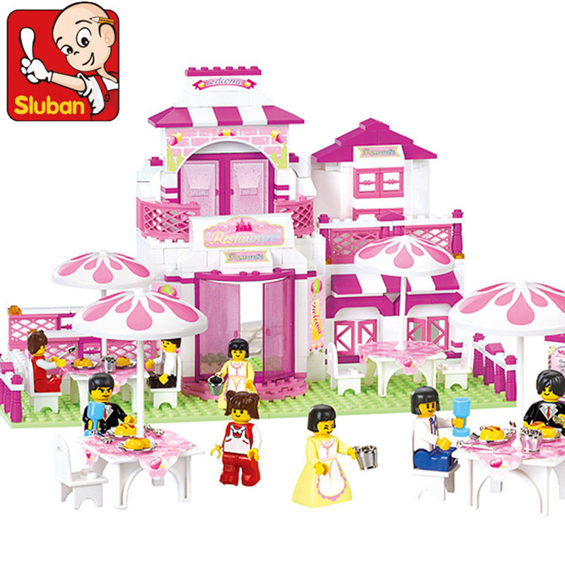 Sluban 306pcs Legoings Friends Romantic Restaurant Building Blocks Enlighten Action Figure Bricks Educational Toys for Children диск replay hnd11 7x17 5x114 et47 0 sil page 4