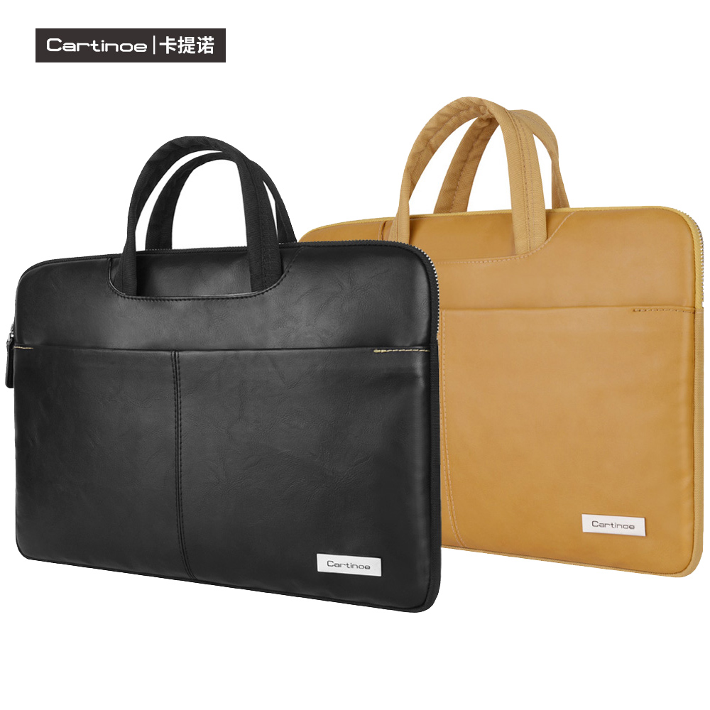 PU Leather Laptop Bag 15.6 14 13 inch Notebook Sleeve Bag for Macbook Pro Air 13 15 Case Single Shoulder Messenger Bag Men Women