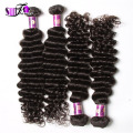 Real Burmese Deep Curly Virgin Hair 4 Bundles Natural 100% Burmese Virgin Hair Sky Human Hair Black Deep Curly Hair Weaves
