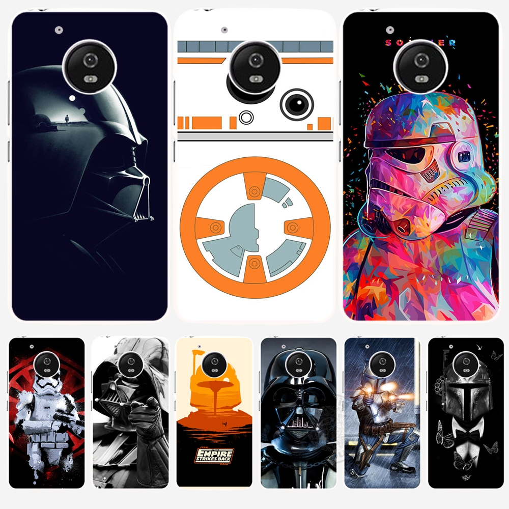 star wars r2d2 darth vader stormtrooper boba fett cell case cover for for motorola moto g5 g4. Black Bedroom Furniture Sets. Home Design Ideas