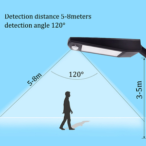 Image 4 - 48 LED Motion Sensor Light Solar Lights 900LM Lamp For Outdoor Wall Garden Yard Waterproof Rotable Stick With Four Modes