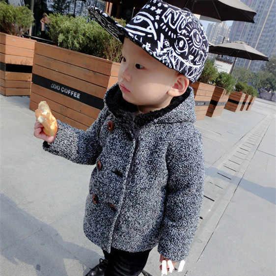 2019 חורף סתיו בגדי ילדים צמר כותנה מעיל בגדי תינוק בני בנות עיבוי מעיל מעיל ילדים תינוקות תערובות נים