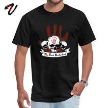 Family Men black Tshirts The Dark Brotherhood Normal Tops Shirt Latvia John Lennon Sleeve Casual Tee O Neck