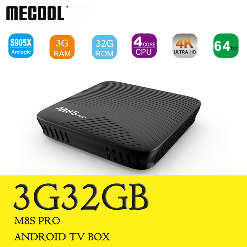 Mecool M8S PRO Smart Android 7.1 TV Box 3GB/32GB Amlogic S912 8 Core CPU Media Player Wifi 4K H.265 M8Spro Set Top Box pk x96 t6