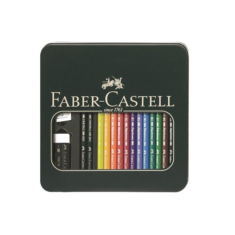 FABER CASTELL 110040 ensemble de peinture couleur grasse crayon croquis crayon de couleur crayon de couleur art design