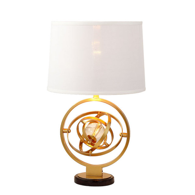New Arrival Table Lamp Marble High Quality Clear Crystal Ball Desk For Bedroom Foyer Study