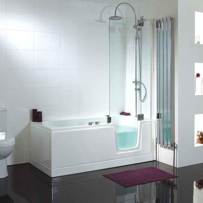 Acrylic Lowes Walk In Bathtub With Shower Long Glass Door Ce 1690