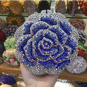 female black Clutch Purse Luxury Women red Crystal Evening Clutch Bags Flower Hard Case Bling box pink Rhinestone day Clutches blue women clutch crystal evening bags women rhinestone hard box clutch purse evening bags hard box cocktail wedding bag yls 32