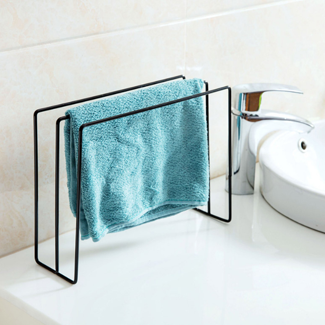 Storage Rack Three dimensional Iron Art Rag Hanger Bath Towel Holder ...