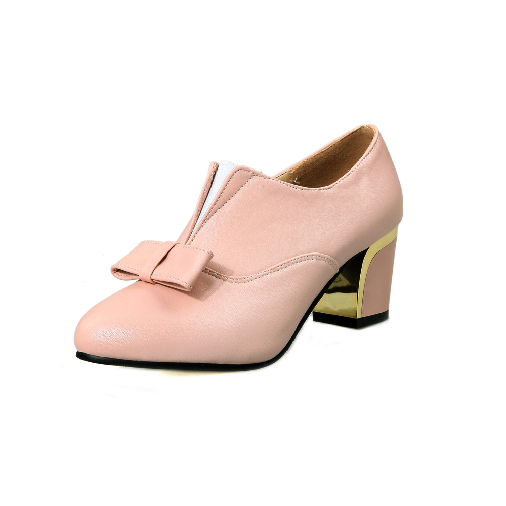 2017 New Fashion Shoes Woman Spring/Autumn Patent Leather Pumps Bowknot Women High Heels Pointed Toe Casual Shoes Slip on Shoes bowknot pointed toe women pumps flock leather woman thin high heels wedding shoes 2017 new fashion shoes plus size 41 42