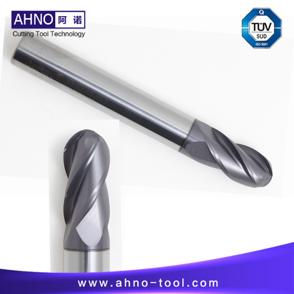 цены  5pcs/lot BeRay of AHNO 4 Flutes 100% Tungsten Solide Carbide Mill Ball Nose Tool Grinder For CNC Milling Factory Outlets